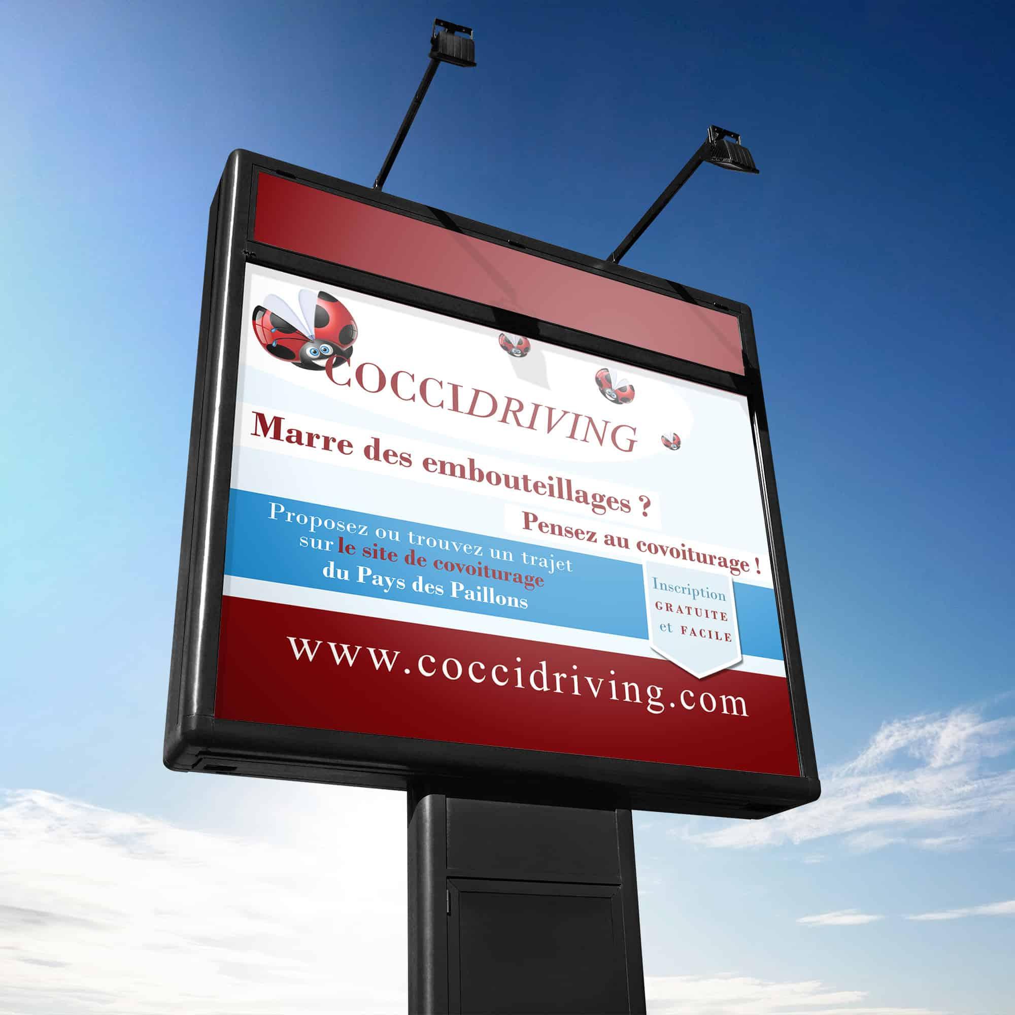 panneau publicitaire Coccidriving