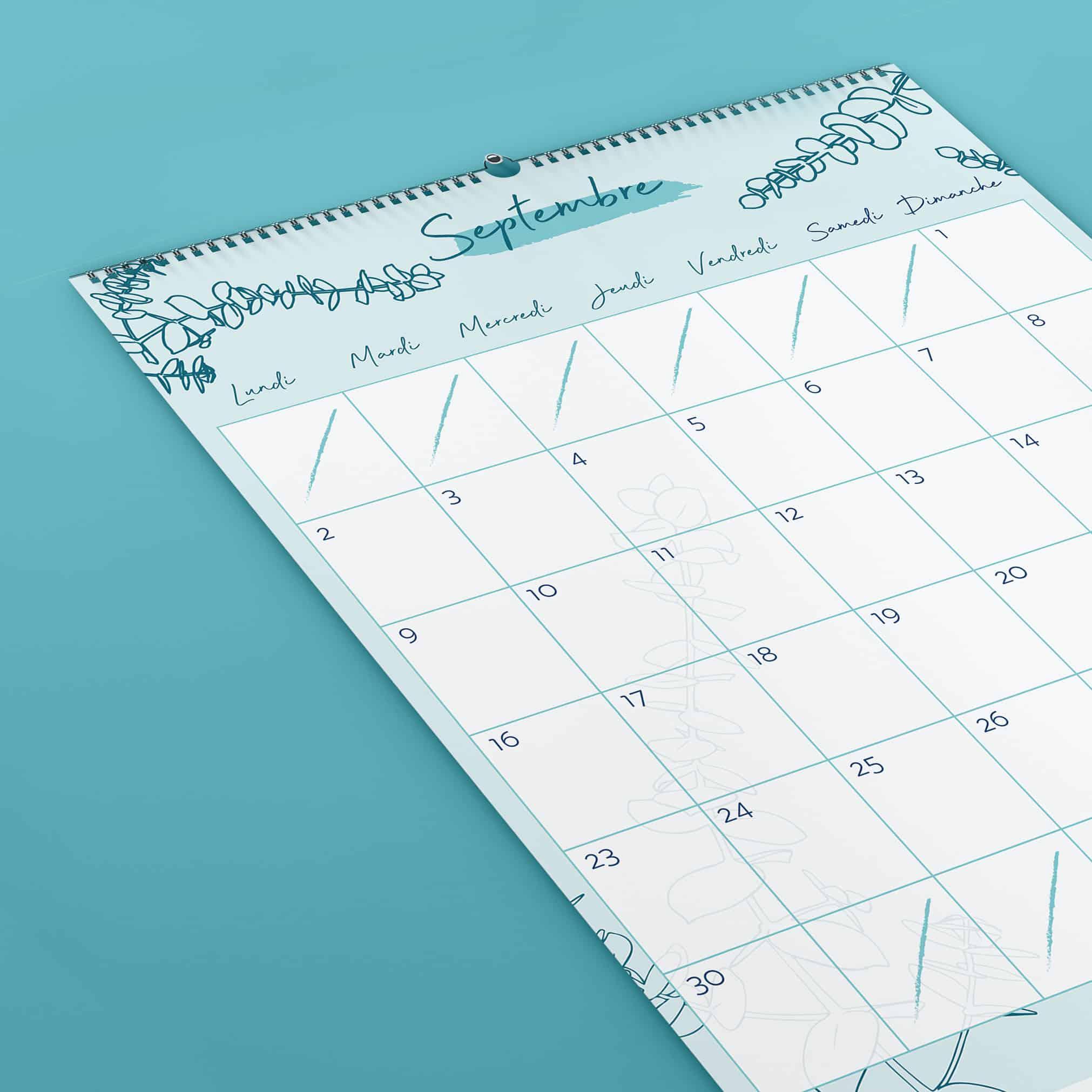 joli calendrier botanique