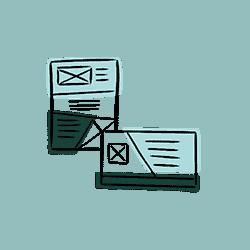 icône pour la création de supports de communication print - graphiste à valence