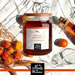 etiquette packaging confiture abricots de Mercurol -26-oriane michaud