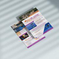 flyer ou plaquette commerciale faite par ungraphiste freelance pour une entreprise en ardèche