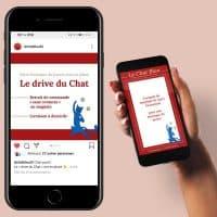 template stories instagram et publication réseaux sociaux faites par une graphiste à Valence