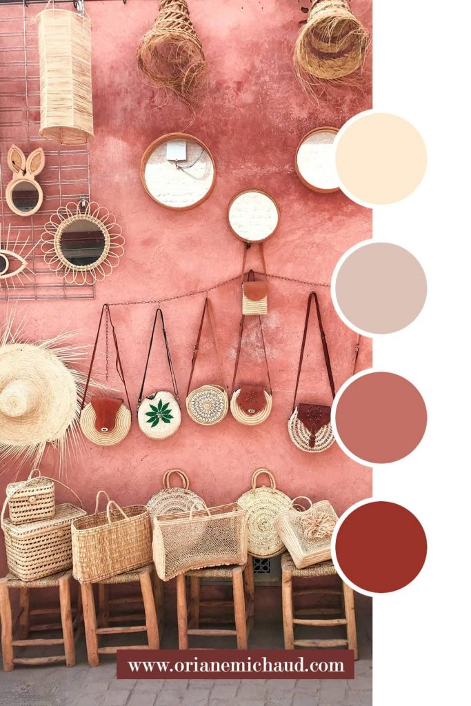 exemple de palette de couleurs chaudes créateur